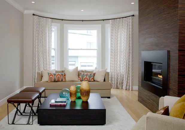 Contemporary Curtains by Stitch Custom Furnishings
