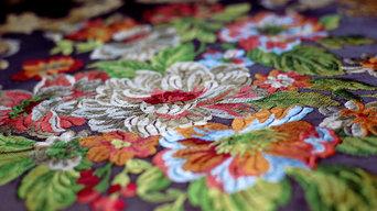 Портьерные ткани с вышивкой