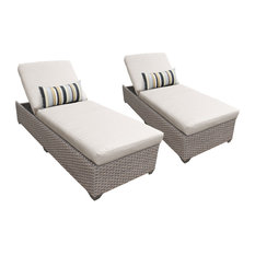Oasis Chaise Set of 2 Outdoor Wicker Patio Furniture