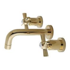 Kingston Brass   Kingston Brass Millennium Vessel Sink Faucet, Polished  Brass   Bathroom Sink Faucets