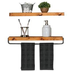 Industrial Bathroom Cabinets by Del Hutson Designs