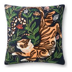 """Justina BlakeneyxLoloi Decorative Pillow, Black, 22"""", No Fill"""