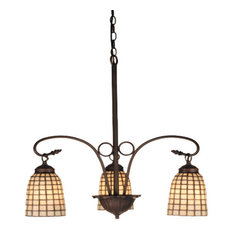 "Meyda 24.5"" Terra Bone 3-Light Chandelier"