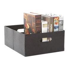 Tidy Living - PU Faux Leather Storage Bin Small - Storage Bins and Boxes  sc 1 st  Houzz & Faux Leather Storage Box Storage Bins And Boxes | Houzz Aboutintivar.Com