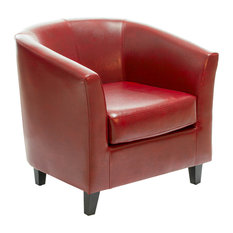GDFStudio   Prescott Club Chair, Oxblood Red   Armchairs And Accent Chairs