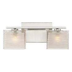Westcap 2 Light Bath Lighting, Brushed Nickel