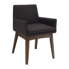 Chanel Dining Armchair, Mud and Cocoa, Set of 2