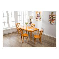 Barruch 5-Piece Dining Set Oak