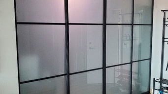 Sliding doors wall partition