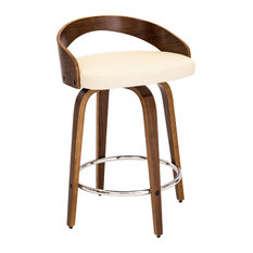 Lumi Source - Grotto Counter Stool Cream - Bar Stools and Counter Stools  sc 1 st  Houzz & Low Back Bar Stools and Counter Stools | Houzz islam-shia.org