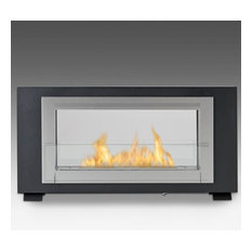 Eco-Feu Montreal 2-Sided Biofuel Fireplace in Matte Black