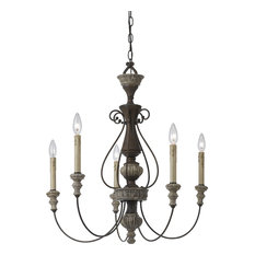Cal Lighting 5-Light Williams Metal Chandelier, Rust/Dapple Gray