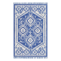 Nuloom Cotton 8'x10' Rectangle Area Rug, Blue
