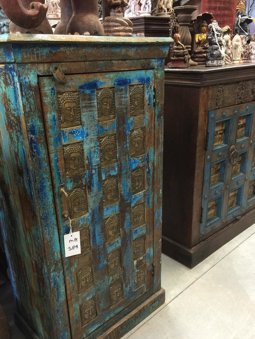 BUDDHA HAND CARVED ARMOIRE   Armoires And Wardrobes
