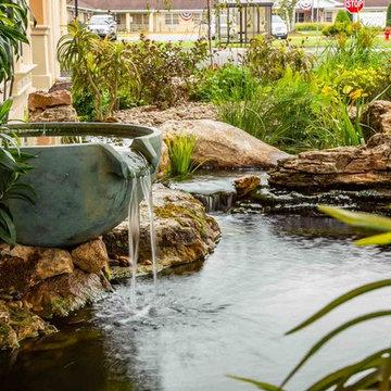 Custom Koi Pond Installation for Graystone Luxury Apartments