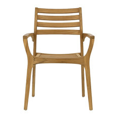Volonne Teak Stackable Outdoor Dining Chair, Natural