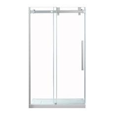 OVE Decors Chester 48 in. Satin Nickel Frameless Sliding Shower Door