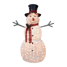 """60"""" Snowman Decoration With Clear Lights"""
