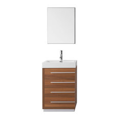 "Bailey 24"" Single Bathroom Vanity Cabinet Set, Plum"