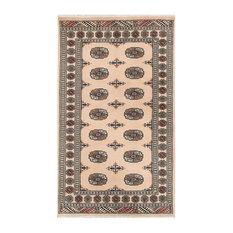 "ALRUG Handmade Beige Oriental  Bokhara Rug, 3'1""x5'2"""