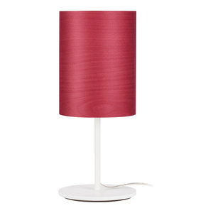 Veneli Table Lamp, Red Ash Veneer