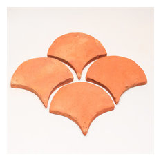 """Terracotta Fish Scale, 6""""x6"""",Set of 36 tiles"""