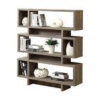 Modern-Style Bookcase, Dark Taupe