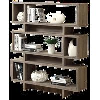 "Monarch Specialties Dark Taupe Reclaimed-Look 55"" Modern Bookcase"