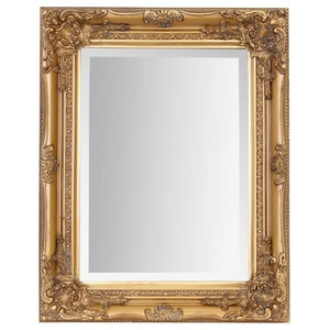 Wall Mounted Mirror, French Vintage Solid Wood Frame, Antique Baroque Style