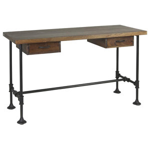 Pipa 2-Drawer Industrial Writing Desk