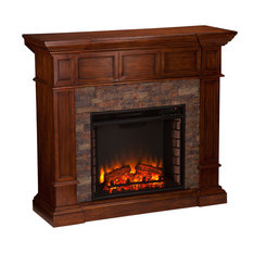Xerick Simulated  Stone Convertible Electric Fireplace