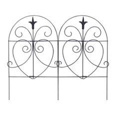 Panacea 89379 18'x8' Black Romantic Style Folding Fence