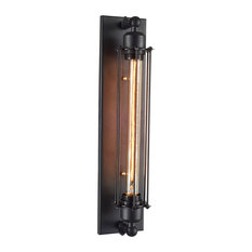 OHR Lighting - Ohr Lighting Edison Caged Wall Sconce Matte Black/Iron - Wall  sc 1 st  Houzz & 50 Most Popular Black Wall Sconces for 2018 | Houzz