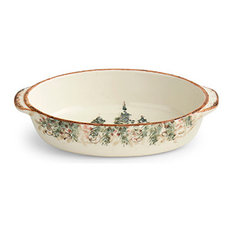 Arte Italica - Natale Oval Baker - Holiday Dinnerware  sc 1 st  Houzz & Shop Top Rated Dishwasher-Safe Holiday Dinnerware | Houzz