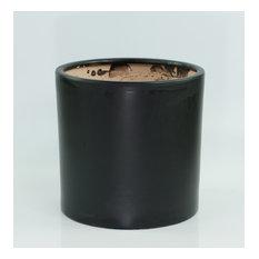 Extra Large Ceramic Pot Cylinder Planter 13'' Black