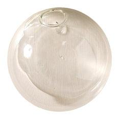 "Large Glass Wall Bubble Sphere Vase, 7.5"" Terrarium Round"