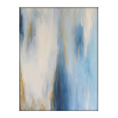 Abstract Original Painting on Canvas Contemporary/Modern Painting - 30x40 - Blue