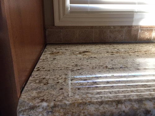 Granite Countertop Not Meeting The Side Cabinets Flush