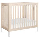 Babyletto - Gelato 4-In-1 Mini Crib, Washed Natural And White, Washed Natural - The Gelato 4-in-1 Mini Crib delivers a pint-size punch of personality. Mini-sized for nursery nooks, small space nurseries, or shared bedrooms (roomies!), the Gelato Mini Crib features optional interchangeable feet to match décor. The Gelato Mini is also a smart alternative to a bassinet with the added benefit of a convertible design that expands into a toddler bed and then twin bed for all the big kid years!