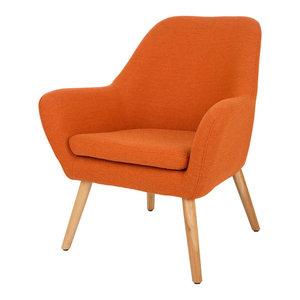 Madelyn Mid Century Modern Fabric Club Chair Midcentury