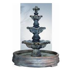 Three-Tier Renaissance Fountain in Grando Pool, Natural