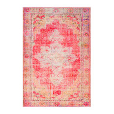 """Parker Updated Traditional Bright Pink, Pale Pink Area Rug, 7'10""""x10'3"""""""