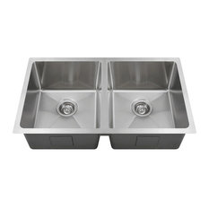 mr direct mr direct 3120d undermount double bowl stainless steel kitchen sink 16 gauge. beautiful ideas. Home Design Ideas