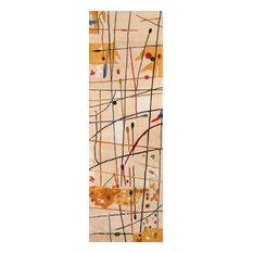 "New Wave Hand-Tufted Rug, Beige, 2'6""x8' Runner"