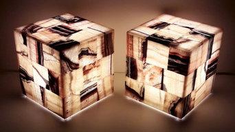 светильник - ночник из натурального камня