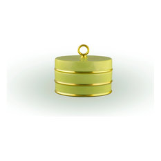 Arienne Trinket Box, Celery & 24k Gold