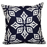 "E by Design - Beach Star, Geometric Print Pillow, Navy Blue, 16""x16"" - Decorate and personalize your home with pillows that embody color and style, from E by Design."