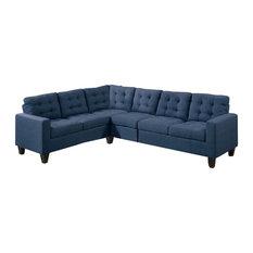 Superbe Modular Sectional Sofa, Navy   Sectional Sofas
