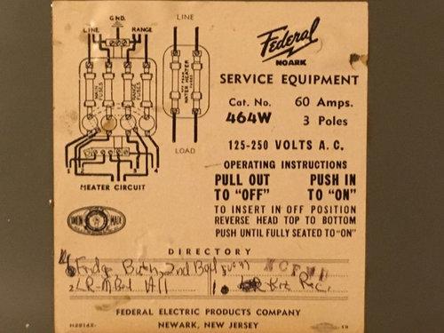 federal fuse box 60 amp 3 pole fuse box  60 amp 3 pole fuse box