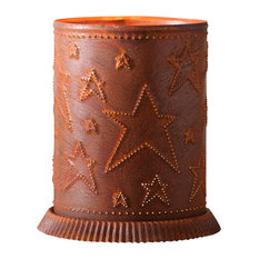 Candle Warmer With Country Star, Rustic Tin